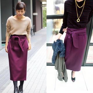 イエナ(IENA)の今期 IENA LA BOUCLE WOOL BIGリボンスカート 新品未使用(ロングスカート)