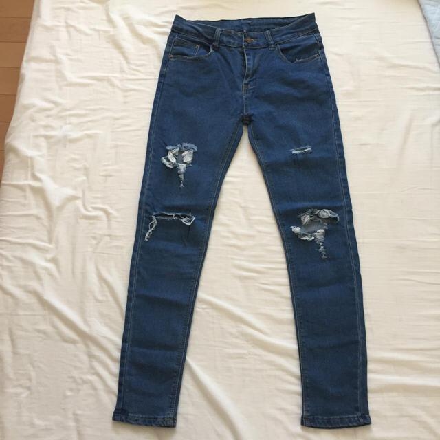 ダメージジーンズ Msize レディースのパンツ(デニム/ジーンズ)の商品写真