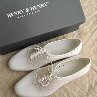 ナノユニバース(nano・universe)のHENRY&HENRY ホワイト ラバーレースアップマニッシュシューズ(その他)