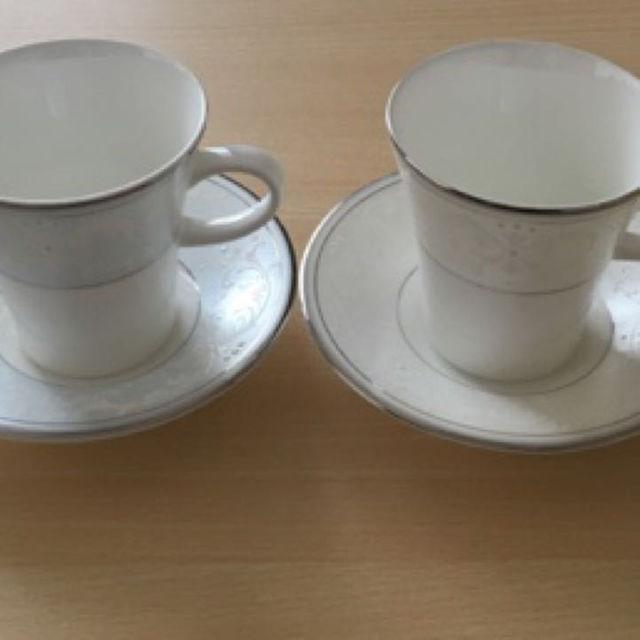 NIKKO(ニッコー)のペアコーヒーカップ インテリア/住まい/日用品のキッチン/食器(グラス/カップ)の商品写真