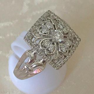 あちこ様専用 プラチナ ダイヤ 0.35 アンティークなリング(リング(指輪))