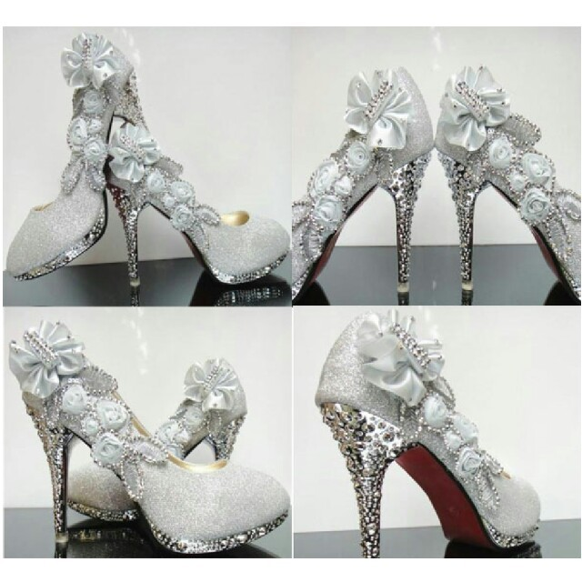 sale 25.5cm ブライダルシューズ レディースの靴/シューズ(ハイヒール/パンプス)の商品写真