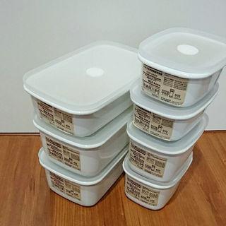 ムジルシリョウヒン(MUJI (無印良品))の新品 無印良品 ホーロー バブル付き密閉保存容器(調理道具/製菓道具)