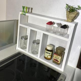 シンプルキッチンラック ホワイト(キッチン収納)