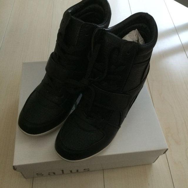 新品未使用☆インソールスニーカー ブラック LLサイズ レディースの靴/シューズ(スニーカー)の商品写真