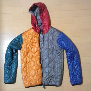 ジーユー(GU)のGU リバーシブル中綿ジャケット クレイジーカラー(ダウンジャケット)