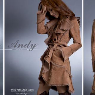 アンディ(Andy)のAndy 新作 高級 ファーコート キャメル ベージュ 新品 キャバ嬢 (毛皮/ファーコート)