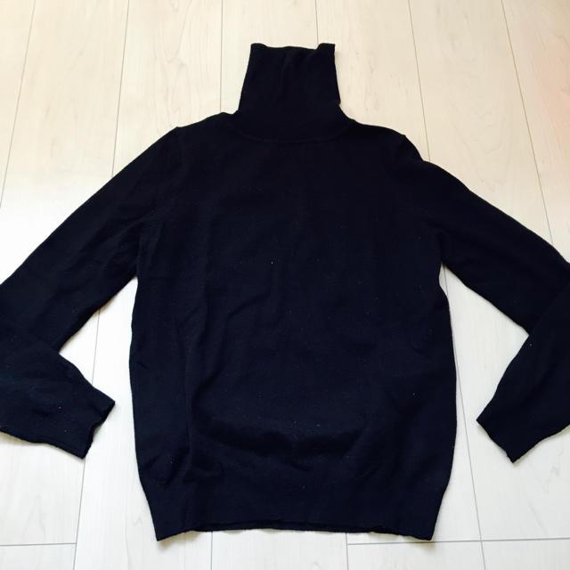 タートルニット 黒 M レディース レディースのトップス(ニット/セーター)の商品写真
