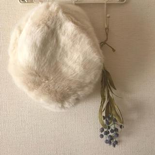 フラワー(flower)のファー帽 ロシアン帽(その他)