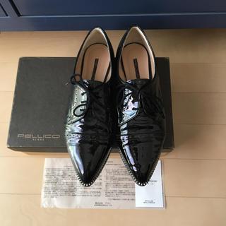 ペリーコ(PELLICO)の極美品、PELLICO/ペリーコ ブラック エナメル レースアップ シューズ(ローファー/革靴)