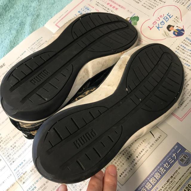 PUMA(プーマ)のPUMA ハイカット スニーカー レオパード 黒 23.5cm レディースの靴/シューズ(スニーカー)の商品写真
