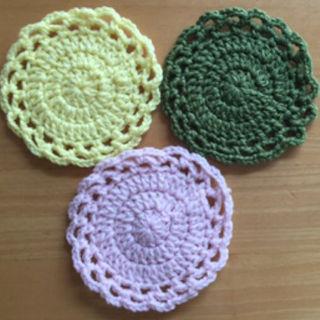 手編みコースター(キッチン小物)
