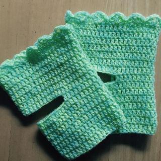 手編みヨガソックス(レッグウェア)