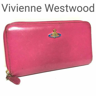 ヴィヴィアンウエストウッド(Vivienne Westwood)の正規 Vivienne Westwood ラウンドZIP レザー 長財布 ピンク(財布)