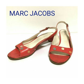 マークジェイコブス(MARC JACOBS)の正規 MARC JACOBS レザー サンダル パンプス ミュール 赤 レッド(サンダル)