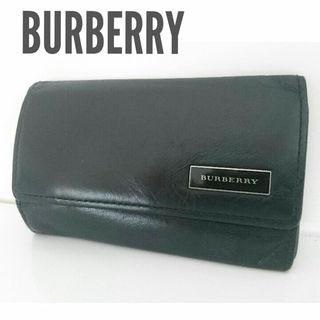 バーバリー(BURBERRY)の正規 バーバリー レザー キーケース 黒 ブラック チェック レディース メンズ(キーケース)