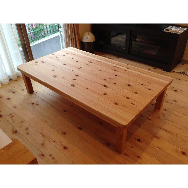 国産杉☆無垢のテーブル インテリア/住まい/日用品の机/テーブル(ダイニングテーブル)の商品写真