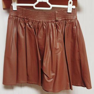 ローリーズファーム(LOWRYS FARM)のLOWRYS FARM レザースカート(ミニスカート)