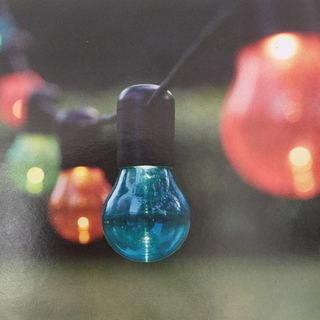 イケア(IKEA)の★美品★ IKEA SOLVINDEN LEDライト 12球 マルチカラー(天井照明)