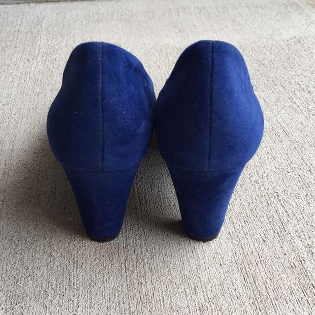 パンプス♡ブルー♡S レディースの靴/シューズ(ハイヒール/パンプス)の商品写真