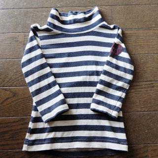 エーアーベー(eaB)のハイネックしましまロンT 80サイズ(Tシャツ)