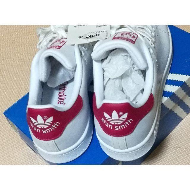 adidas(アディダス)の新品 アディダス スタンスミス ピンク×ホワイト 24.0cm/B32703 レディースの靴/シューズ(スニーカー)の商品写真