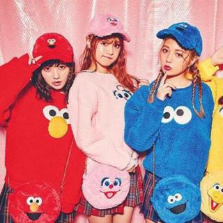 ウィゴー(WEGO)のユニバコーデ♡エルモ♥クッキーモンスター♡(ニット/セーター
