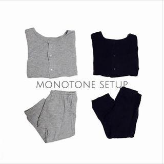 ムジルシリョウヒン(MUJI (無印良品))の128 simple cardigan×sweatpants 2点SET(カーディガン/ボレロ)