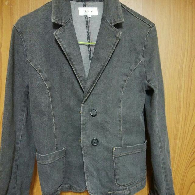 i・n・e デニム グレージャケット  サイズ1 レディースのジャケット/アウター(Gジャン/デニムジャケット)の商品写真