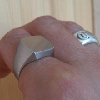 プラチナ900 約30g 印台リング (リング(指輪))