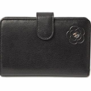 シャネル(CHANEL)のシャネル 未使用財布 CHANEL バタフライ カメリア型押し 折財布 ブラック(財布)