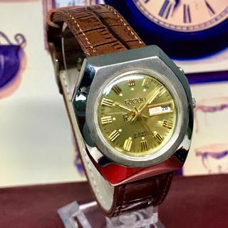 リコー(RICOH)の'70s Vint. リコー 自動巻メンズウォッチ OH済 ゴールドダイヤル(腕時計(アナログ))