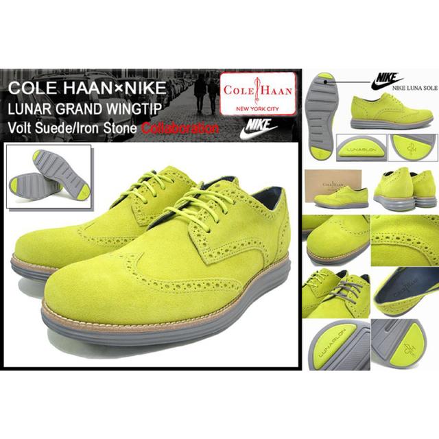 Cole Haan(コールハーン)の新品 レア コールハーン ルナグランド 10M 28cm イエロー グレー 嵐 メンズの靴/シューズ(その他)の商品写真