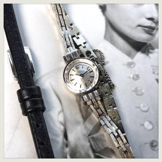 ジラールペルゴ(GIRARD-PERREGAUX)の美品レア✨ジラールペルゴ 18金無垢カットガラス ベルト2本✨オメガ カルティエ(腕時計)