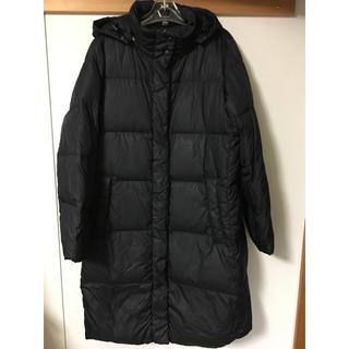 ユニクロ(UNIQLO)のユニクロ ロングダウン コート 黒 XL UNIQLO ゆったりサイズ(ダウンコート)