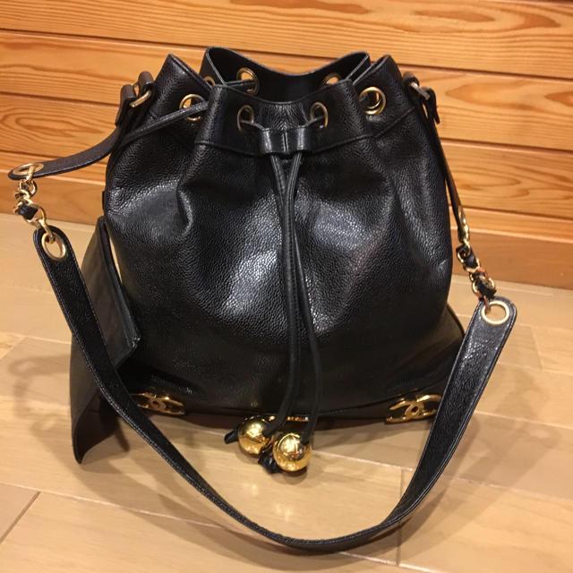 d796c5cd7be4 CHANEL(シャネル)のシャネル ヴィンテージ バッグ 巾着 キャビアスキン レディースのバッグ(ショルダー