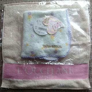 チュチュアンナ(tutuanna)の送料無料、新品未使用未開封、ロクシタンとチュチュアンナのタオルハンカチ(ハンカチ)