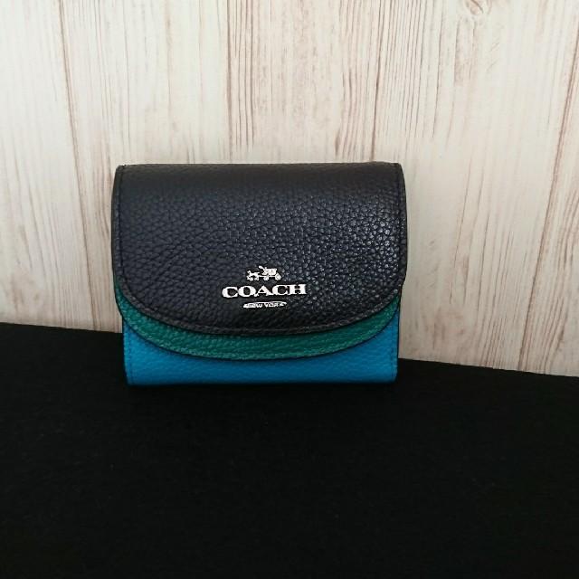 outlet store 50576 b946b COACH 三つ折り財布 ダブルフラップ スモール | フリマアプリ ラクマ