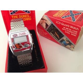 【新品未使用】80年製「デュークオブハザード」デジタルウォッチ/ヴィンテージ時計(腕時計(デジタル))
