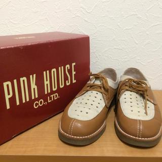 ピンクハウス(PINK HOUSE)のPINK HOUSE パンチングレザーツートンカラーシューズ(ローファー/革靴)