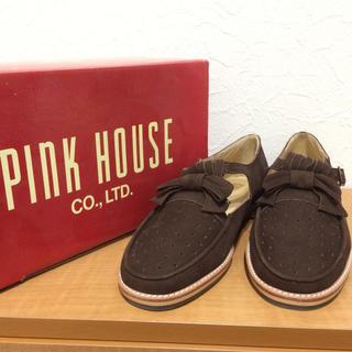 ピンクハウス(PINK HOUSE)のPINK HOUSE スウェードリボンシューズ(ローファー/革靴)