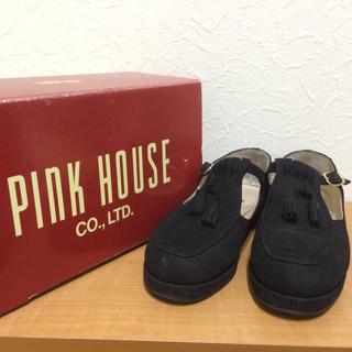 ピンクハウス(PINK HOUSE)のボリルロあきこ様用 PINK HOUSE スウェードタッセルシューズ(ローファー/革靴)