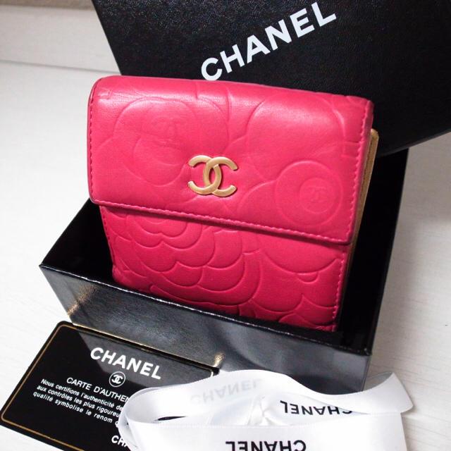 f72c7d2fbf3a CHANEL(シャネル)のcoco様専用♡シャネル 折りたたみ財布 カメリア 花柄 ピンク