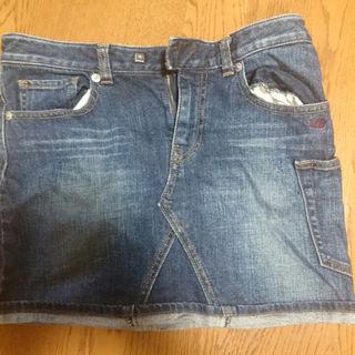アンダーカバー(UNDERCOVER)のuu ジーンズ タイトミニスカートS(ミニスカート)