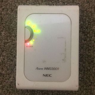 エヌイーシー(NEC)の送料無料★ジャンク品wimaxルータ Aterm WM3300R(その他)