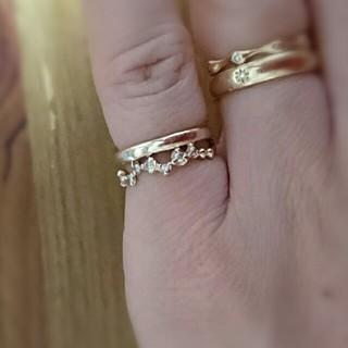 K10ピンクゴールドピンキーリング ダイヤ2(リング(指輪))
