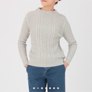 ムジルシリョウヒン(MUJI (無印良品))のオーガニックコットンケーブル柄セーター(ニット/セーター)
