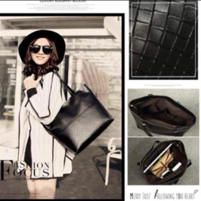 トートバッグ 最安値 新品 レディースバッグ 人気商品 大容量 秋冬アイテム 黒 レディースのバッグ(トートバッグ)の商品写真