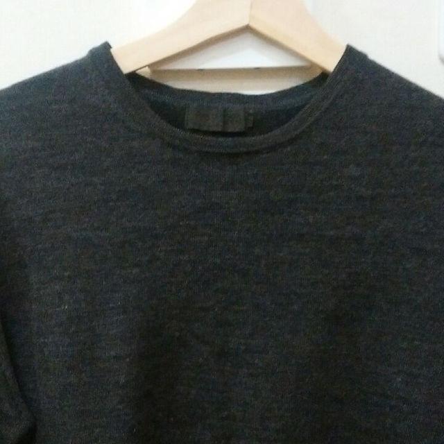COMME CA DU MODE(コムサデモード)のコムサ・デ・モード ダークグレー ニット メンズのトップス(ニット/セーター)の商品写真