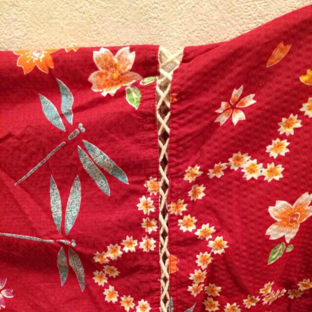 tutuanna(チュチュアンナ)の甚平 赤  値下げしました! レディースの水着/浴衣(浴衣)の商品写真